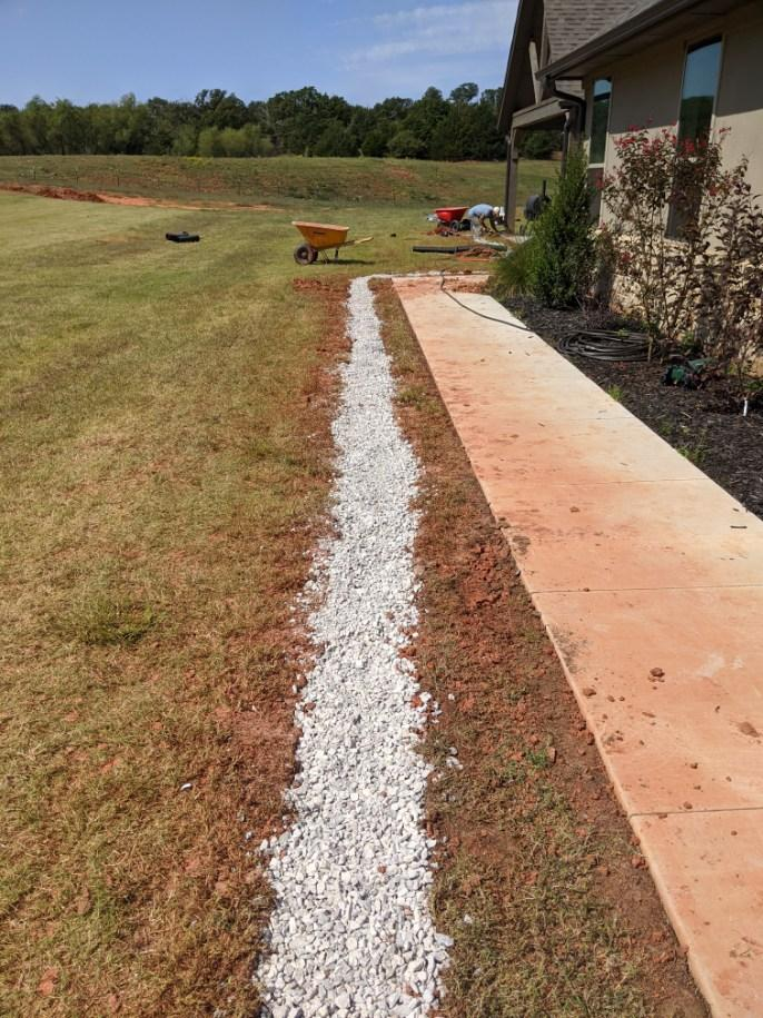 Installed French Drain