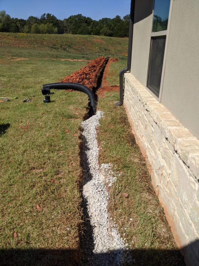 French drain gravel