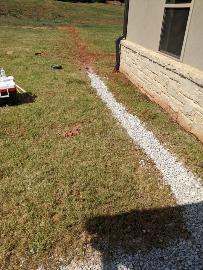 French Drain in the sun
