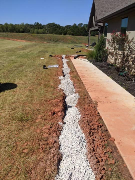 Adding gravel to french drain